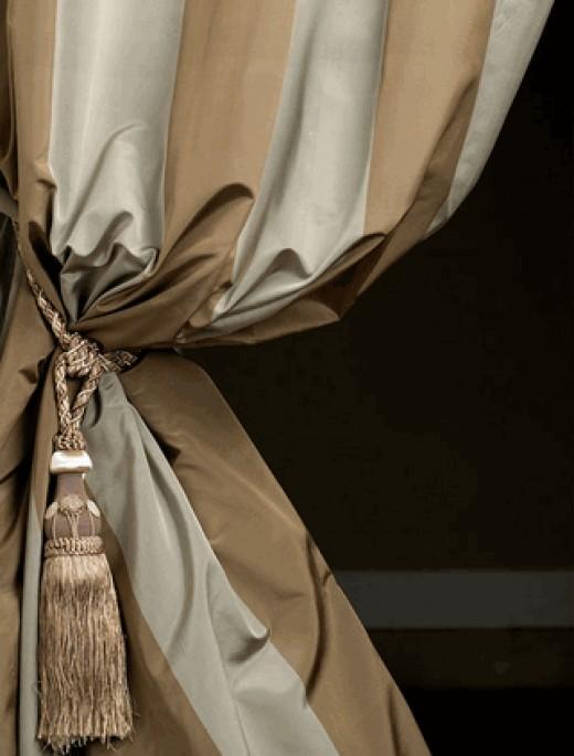 Babylon Silk Curtain, flannel interlined for added sade enhancing.