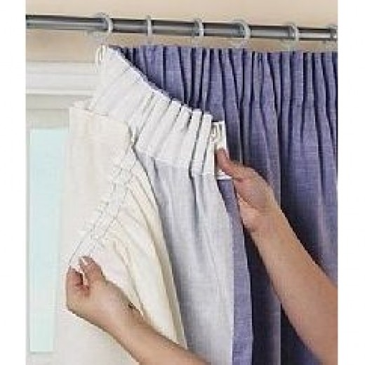 Thermal curtain lining is easy to detach from the drapes for summer or for cleaning