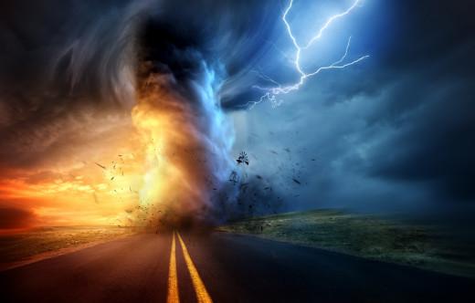 Threatening life storms...