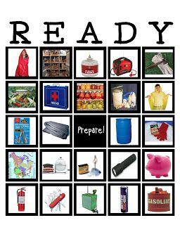 Preparedness Bingo...