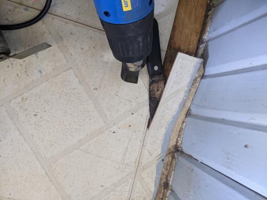 Heat, scrape and remove