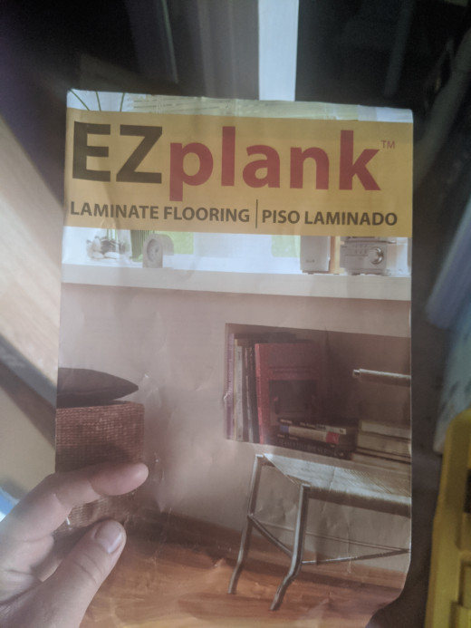 I thought I should bring over some of my planks from home, but my daughter's planks were a different width. And a different color due to a difference of brand. A brand
