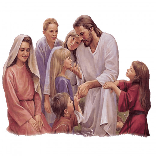 Jesus teaches the children...