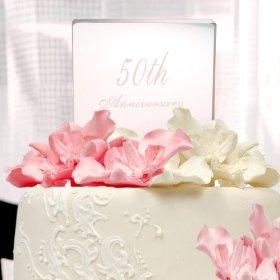 Beautiful Anniversary Cake Topper