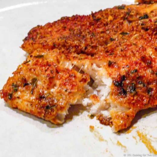 Oven-baked Parmesan-crusted tilapia
