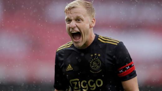 Van De Beek playing for former club Ajax
