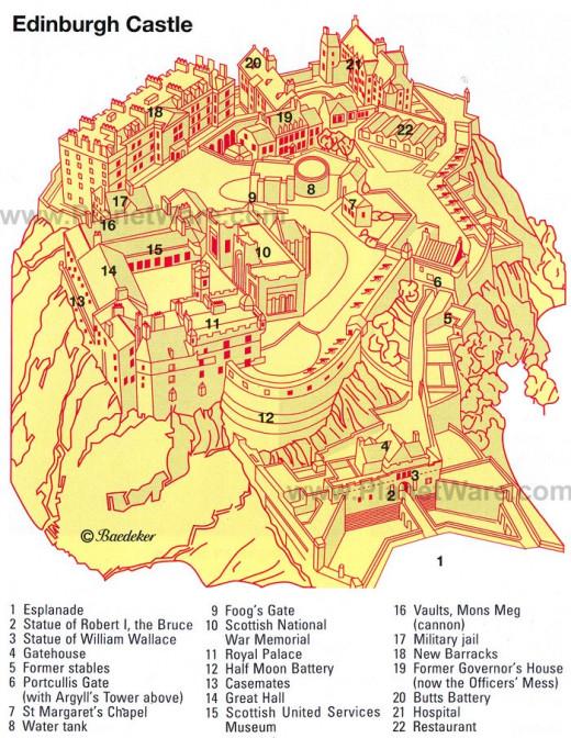 Map of Edinburgh Castle
