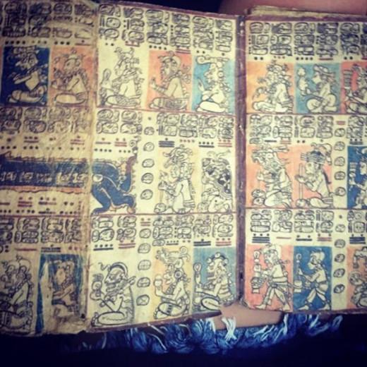 Maya writings © Justina Janeliunaite
