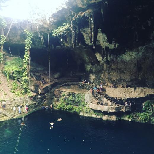 One of the cenote's. Yucatan Peninsula © Justina Janeliunaite