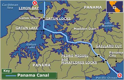 Halliburton's Swim of Panama Canal