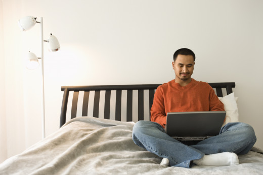 There are many ways of securing information ... like the comfort of your own home.