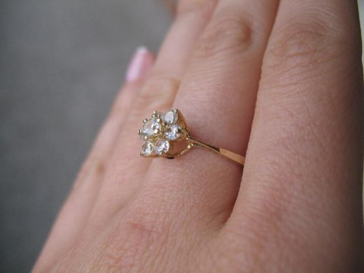 Cheap diamond engagement ring