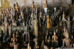 """Several of the One-Thousand Buddhas"" Courtesy of asiaexplorers.com"