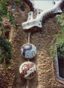 Park Guell done in bits of broken china and glass