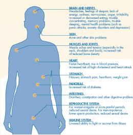 Physiological effects of stress on body. Credit: Mentalhealthamerica.net