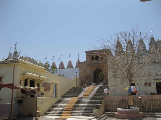 A distant view ofJain Temples on Palitana Hills