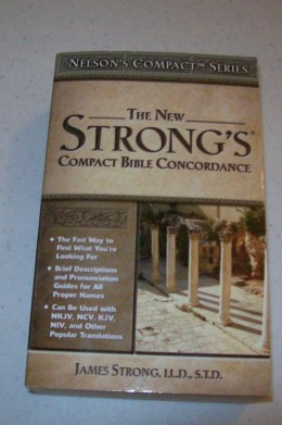 A concordance can also be found in the back of most study bibles.