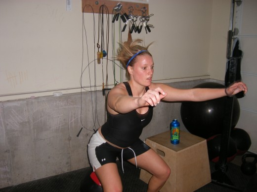 Squatting for core strengthening