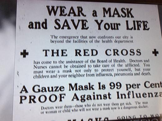 An advertisement in the newspaper during the Spanish Flu Pandemic in 1918.