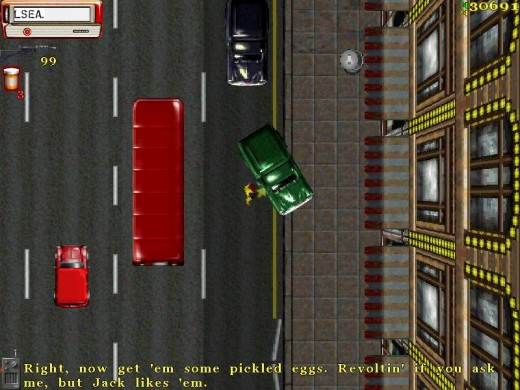 Screenshot from Grand Theft Auto: London 1969