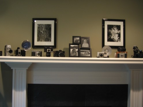 Antique cameras make great display pieces.