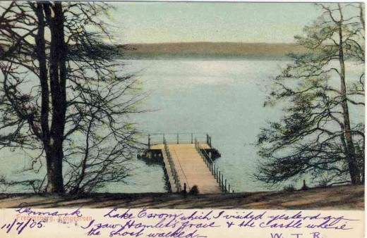 The postcard of Lake Esrom