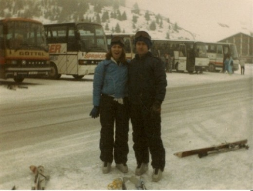 Me with my skiing partner 1988