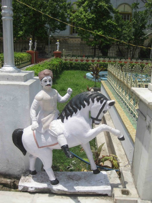 Horse rider Statue in the rear side