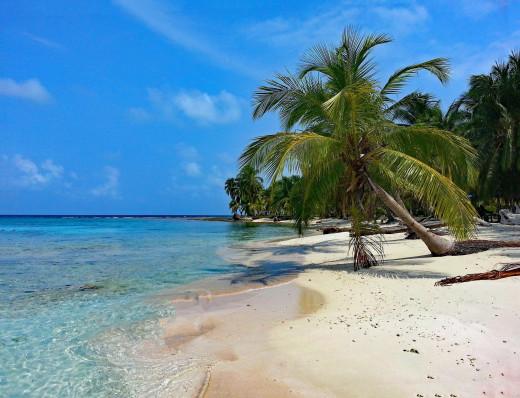 One of the many beautiful islands of the Kuna Yala.