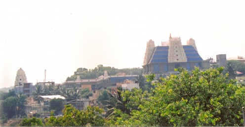 Slightly distant view of the temple