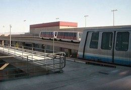 Tram at McCarran International Airport