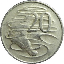 The platypus featured on the Australian 20 cent coin.