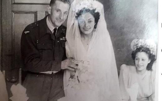 My Auntie Olive marries my Uncle Arthur - with Auntie Eileen sitting in the background.