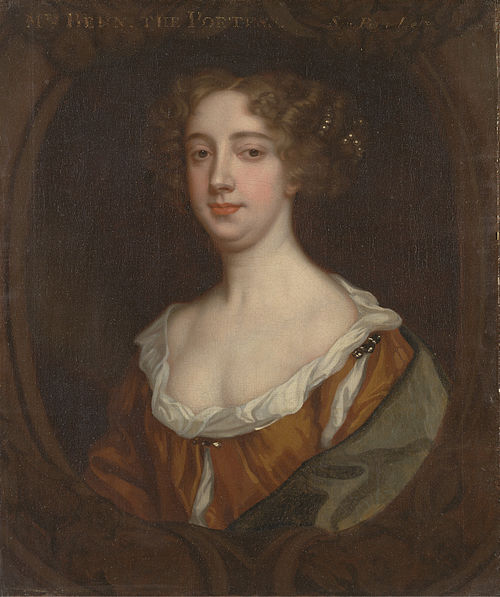 Aphra Behn (1640-1689) Portrait attributed to Peter Lely.