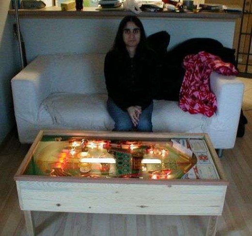 Don't worry about the scary lady, the coffee table is still cool.