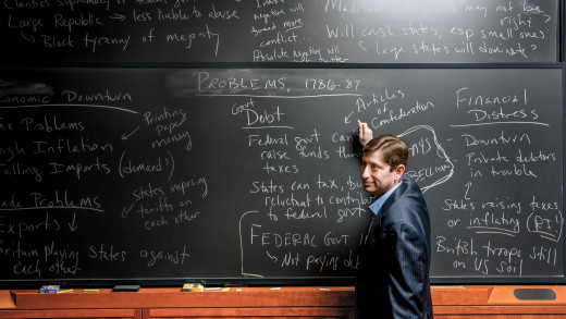 A business professor teaches what depends on his or her concertation.
