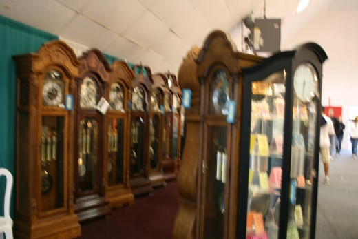 THE GRANDFATHER CLOCK IS A FAMILY HEIRLOOM, YOU MUST INVEST IN FINE QUALITY WOOD AND CLOCK WORKINGS, SEE THESE BEAUTIFUL PIECES OF FURNITURE AT THE VENTURA COUNTY FAIR!