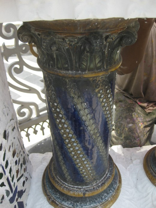 One of the 48 pillars in railing. @4 each side of the temple
