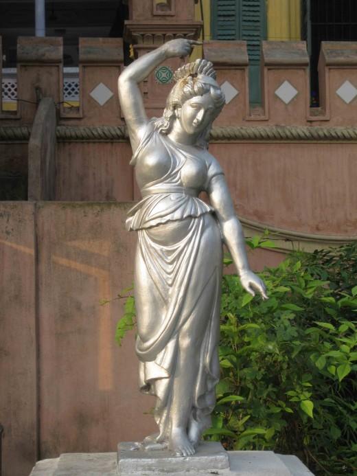 Woman in style-Teracota statue in Parasnath Jain temple, Kolkata