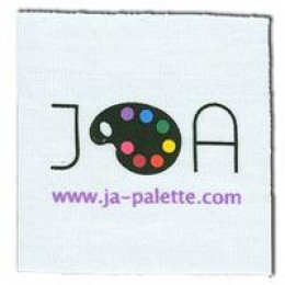 Logo labels printed in cotton