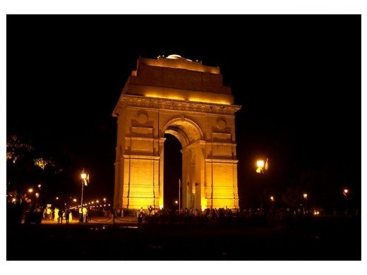 Night view of India Gate