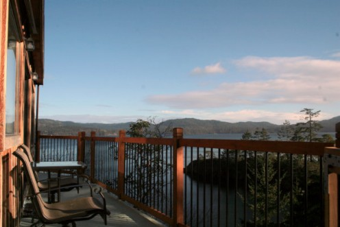View from a vacation cottage rental on Vancouver Island, British Columbia