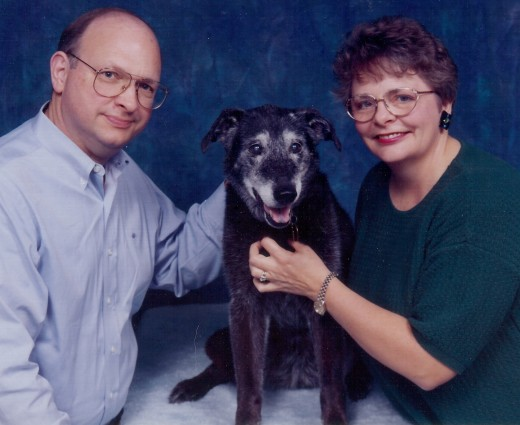 My official PetsMart photo with my parents when I was a little younger