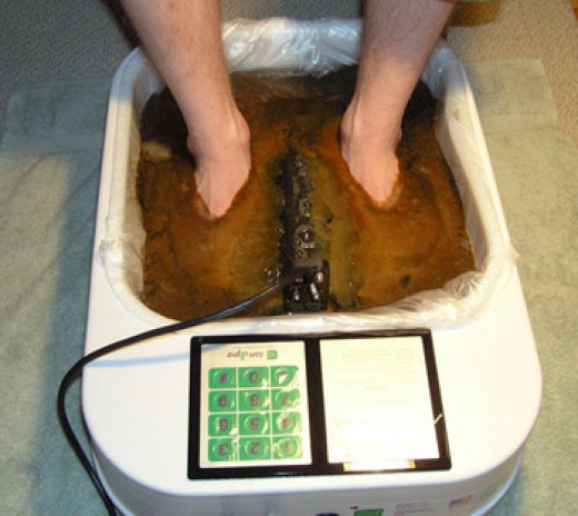 After some time in an ion therapy foot bath Image:holessence.zaadz.com