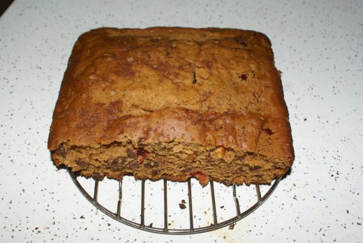 My boiled fruit cake  which the recipe I use is from golden wattle cook book then add more spice and 1 tablespoon of oil