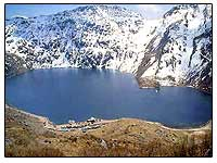 Changu Lake also called Tsongmo Lake