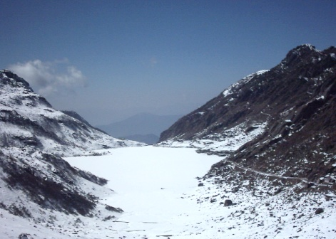 Changu Lake in winter