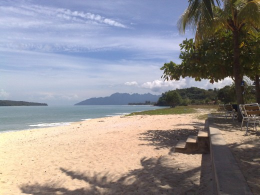 Beautiful sunshine at Tengah beach