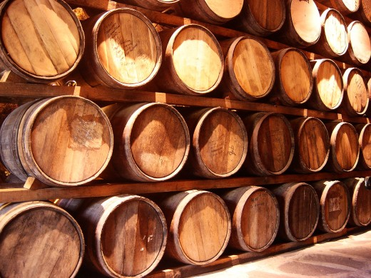 These are the barrels where Tequila is stored