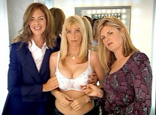 This picture is only here because I find the look of stunned terror on the woman's face as Trinny and Susannah poke her breasts to be amusing in the extreme...